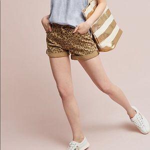 Pilcro Hyphen Leopard Shorts